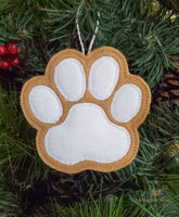 ITH Christmas Cookie Ornament - Paw