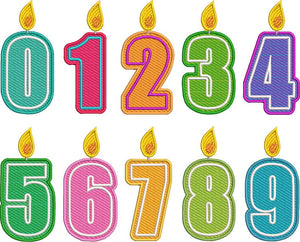 Mylar Number Candle Set - Small