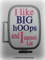 I Like Big Hoops for 5x7 hoop