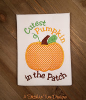 Cutest Pumpkin Applique