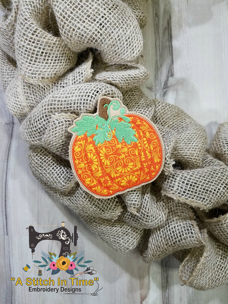 ITH Wreath Decor Thanksgiving Pumpkin for 4x4  Hoops