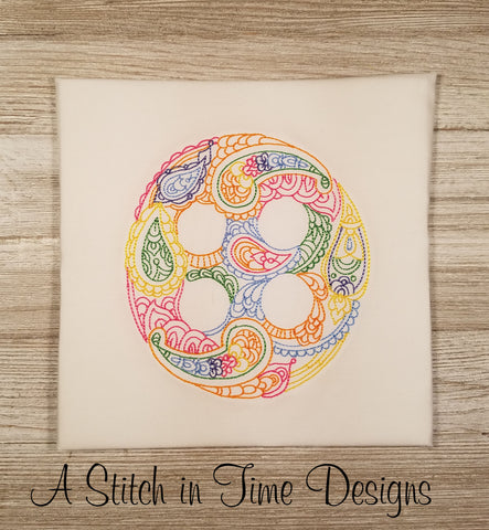 Paisley Button for 5x7 Hoop