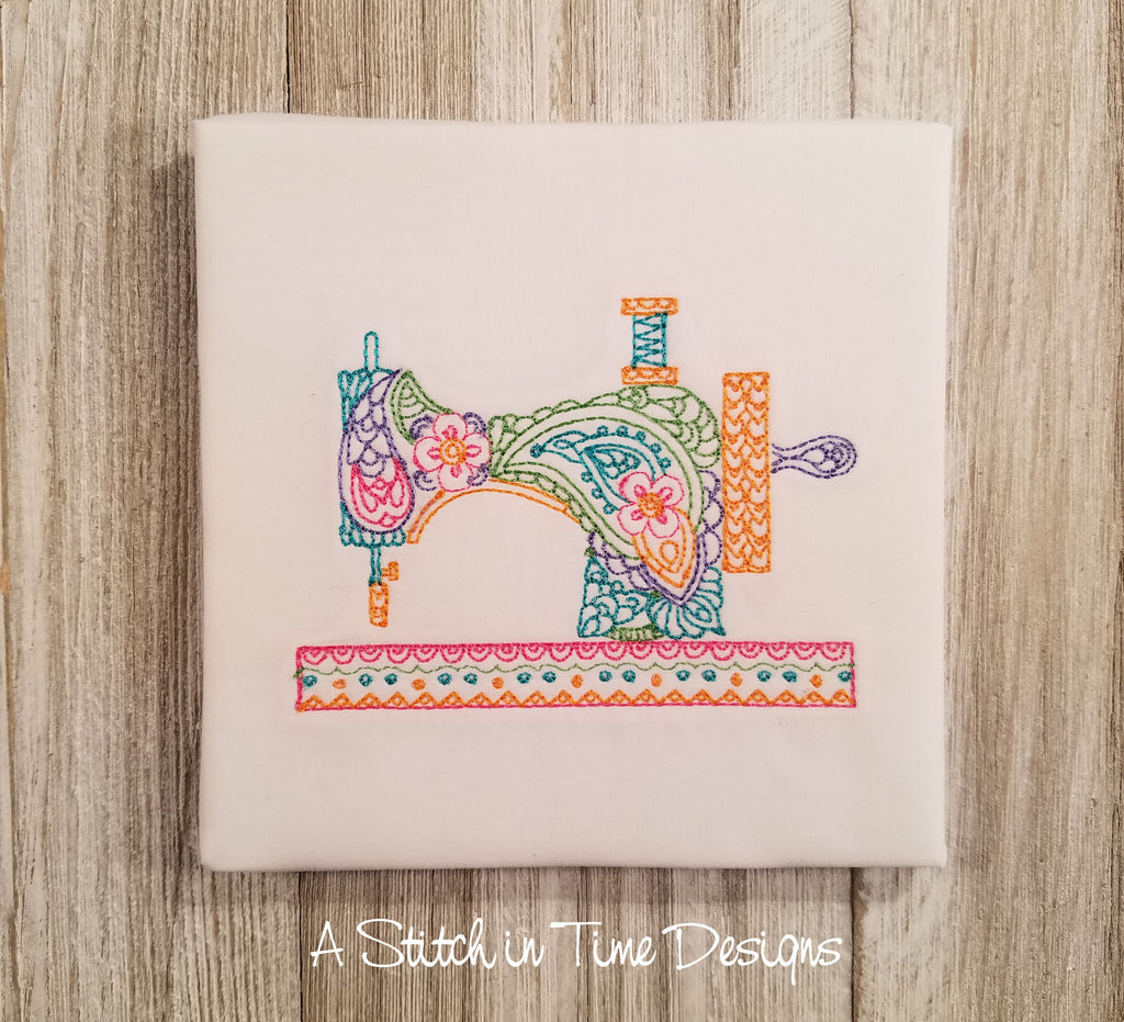 Paisley Sewing Machine for 4x4 hoop