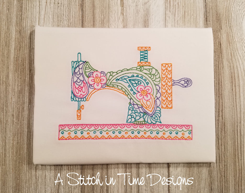 Paisley Sewing Machine for 5x7 hoop