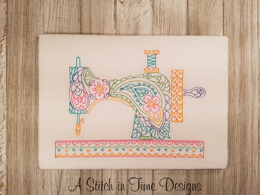 PAISLEY SEWING MACHINE FOR 6x10 HOOP