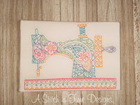 PAISLEY SEWING MACHINE FOR 7x12 HOOP
