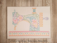 PAISLEY SEWING MACHINE FOR 9x14 HOOP