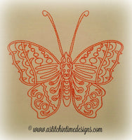 Redwork Butterfly 2
