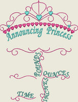 5x7 Princess Birth Announcement Template