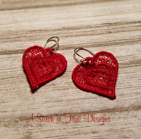 FSL Heart Earrings or Charms