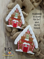ITH Wreath Decor Gingerbread House (5x7 Hoops)