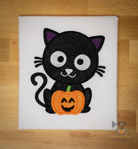Black Cat Mylar Applique