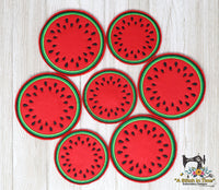 ITH Watermelon Feltie and Coaster Set