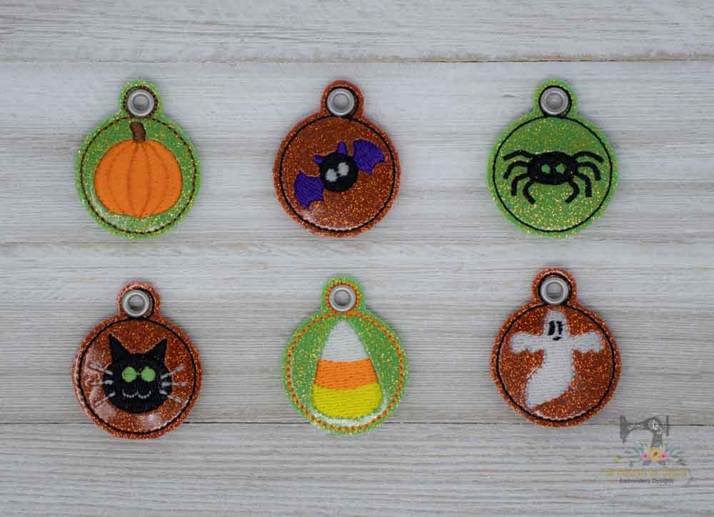 ITH Halloween Zipper Pulls Set