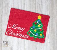 ITH Christmas Tree Mug Rug