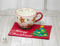 ITH Christmas Tree Mug Rug 2