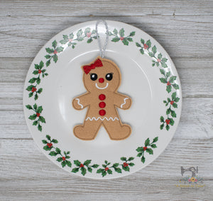 ITH Gingerbread Girl Cookie Ornament
