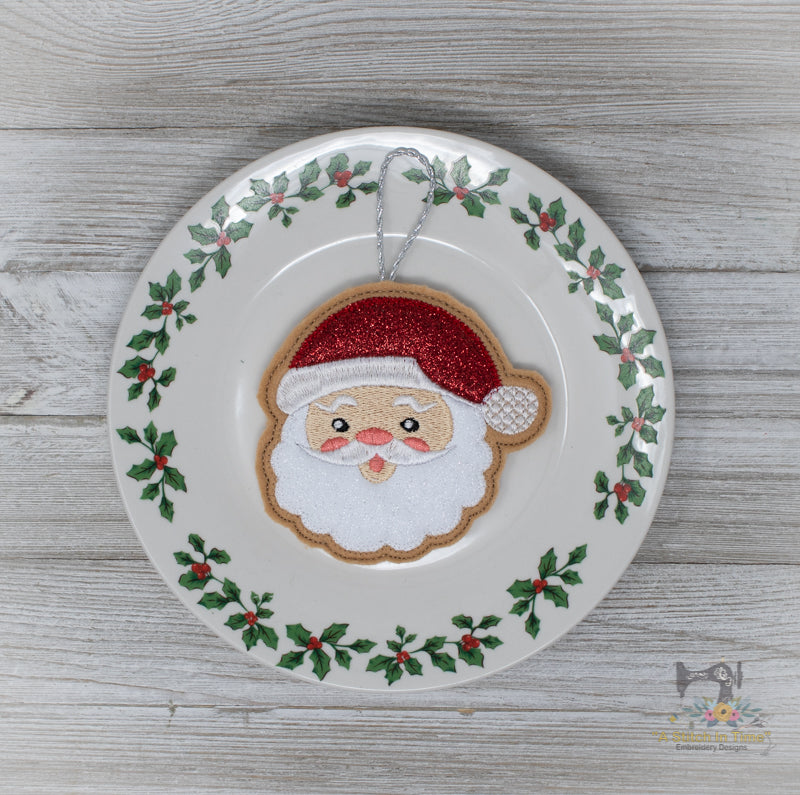 ITH Iced Santa Cookie Ornament