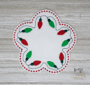 ITH Christmas Lights Mug Rug