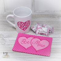 ITH Sweetheart Mug Rug Set  with Applique Hearts