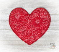 ITH Quilted Heart Mug Rug