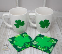 ITH Clover Coasters Set of 2