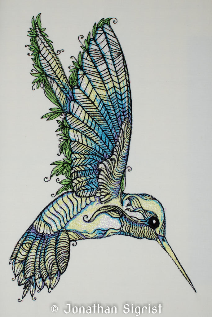 Whimsical Hummingbird 6.0 x 9.4