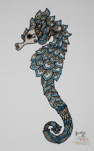 Shimmery Seahorse 2.85 x 6.72