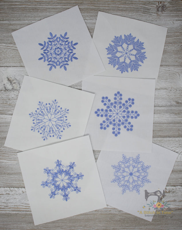 Delicate Snowflakes 2 - Set of 6