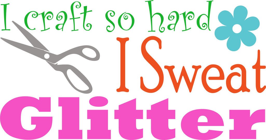I Sweat Glitter Cuttable Design