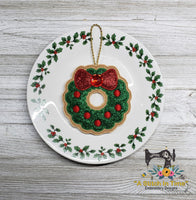 ITH Iced Christmas Wreath Cookie Ornament