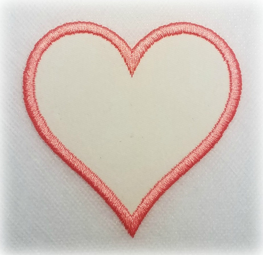 Patch 3 inch Heart - Blank