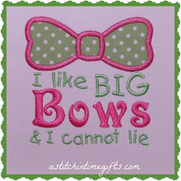 4x4 I Like Big Bows Applique
