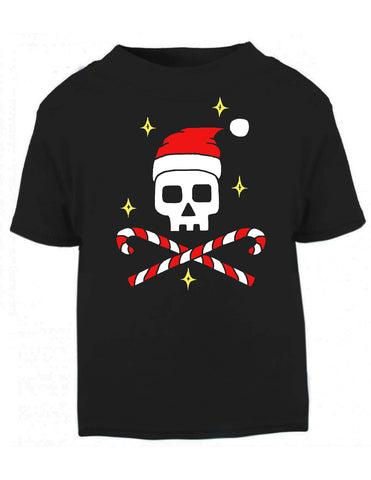 Father Christmas Skull Black T-shirt