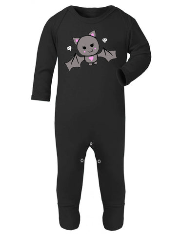 Cute Bat Black Sleepsuit
