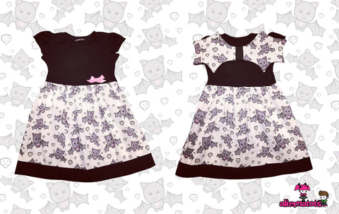 Cute Bat Girls Dress (with optional wings)