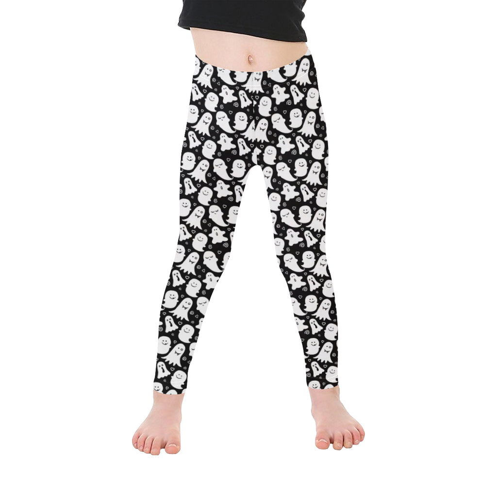 Black & White Cute Ghost Print Leggings