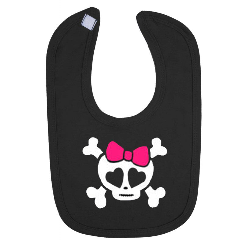 Girly Skull Print Baby Bib