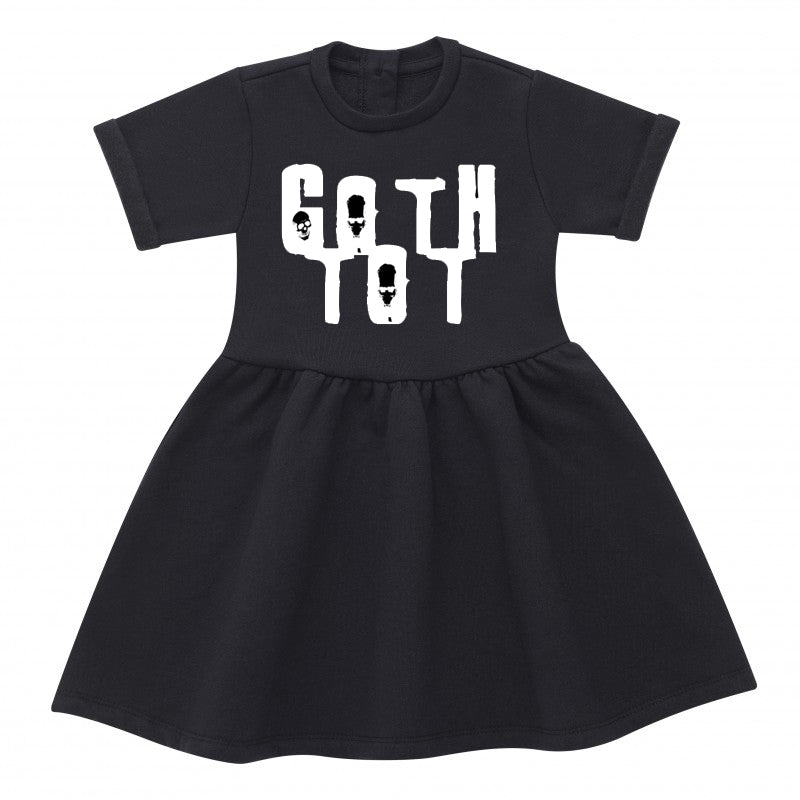 Goth Tot Black Cotton Dress