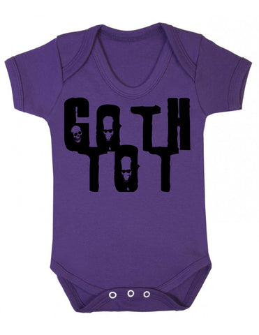 Goth tot Skull Baby Vest (Two Colour Choices)