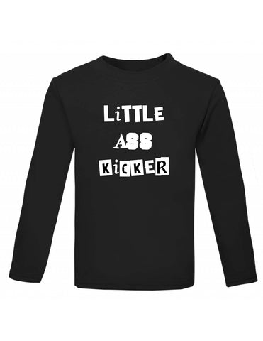 Little Ass Kicker Black Long Sleeved Top