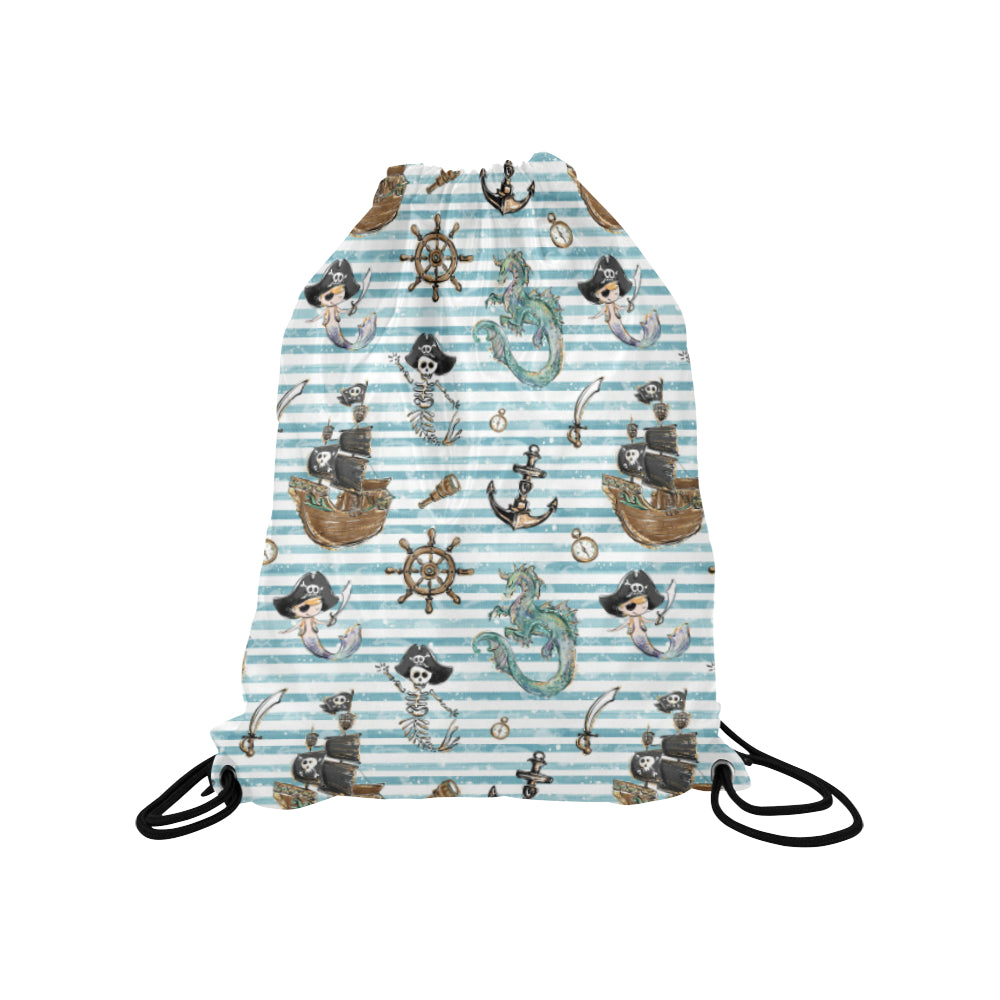 Pirate Merboy Drawstring Bag