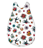 White Retro Tattoo Baby Sleeping Bag