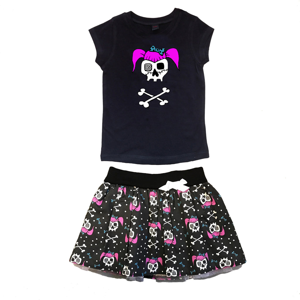 Rockabilly Girl T-shirt & Skirt Outfit
