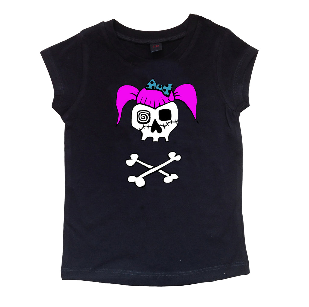 Rockabilly Skull Girls T-shirt