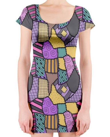 Sally Stitches Ladies Bodycon Dress Short Sleeves