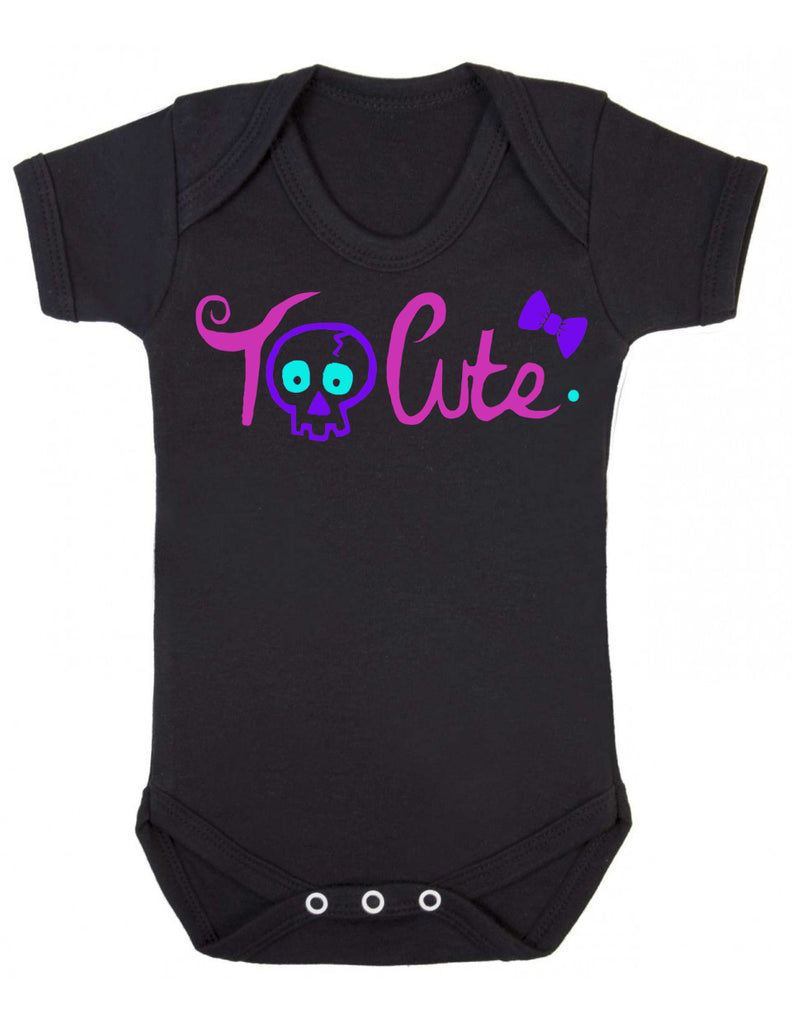 'Too Cute' Black Baby Vest