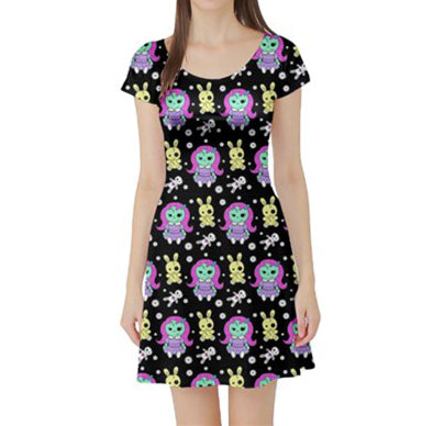 Zombie Doll & Voodoo Teddy Ladies Skater Dress