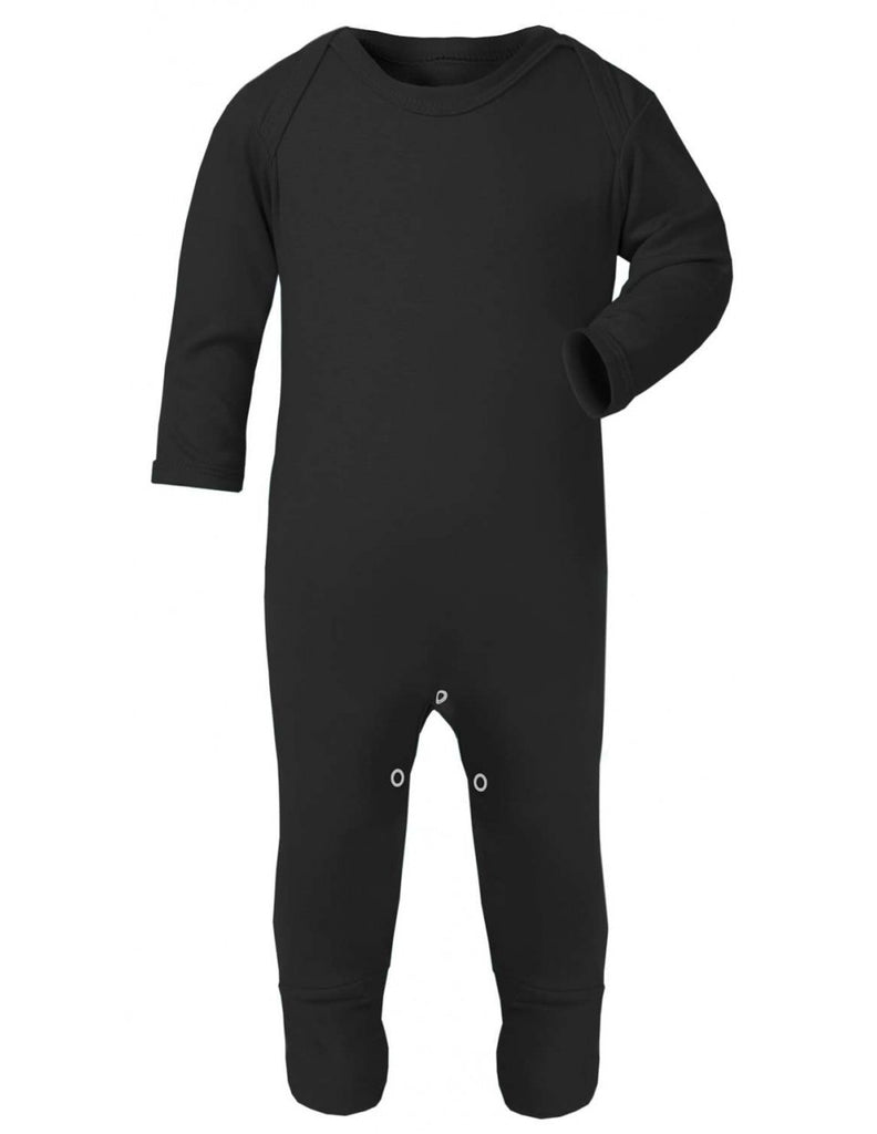 Plain Black Baby Sleepsuit