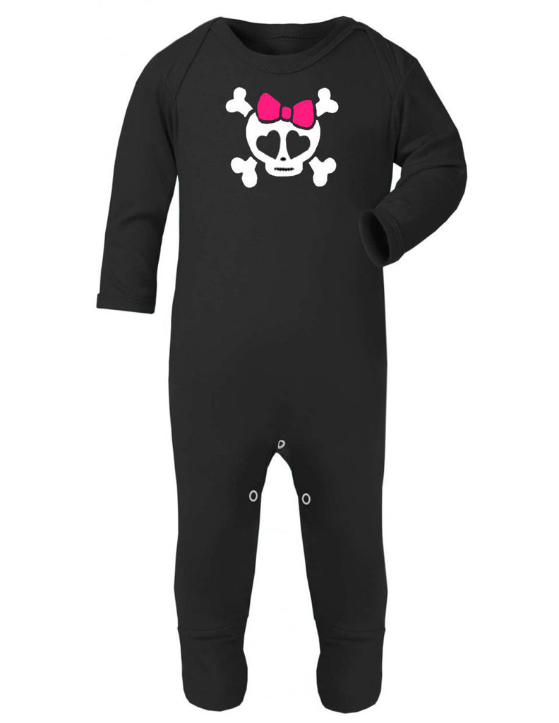 Girly Bow Skull Sleepsuit